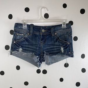 ☀️BOGO☀️Almost Famous dark blue jewel shorts size3